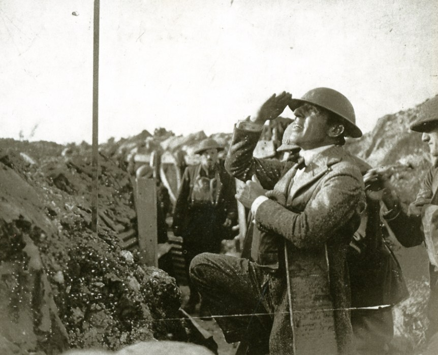 D.W. Griffith in the trenches on the western front