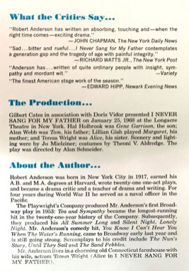 lillian gish hal holbrook i never sang for my father by r. anderson w playbill 4a