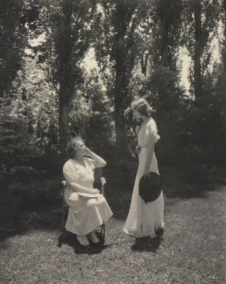 Laura Gilpin (1891-1979); [Gish, Lillian, and Mrs. Carrington] [Made in Chappell Garden, Denver, Colorado]; 1932; Gelatin silver print; Amon Carter Museum of American Art, Ft Worth, Texas; Bequest of the Artist; P1979.140.197