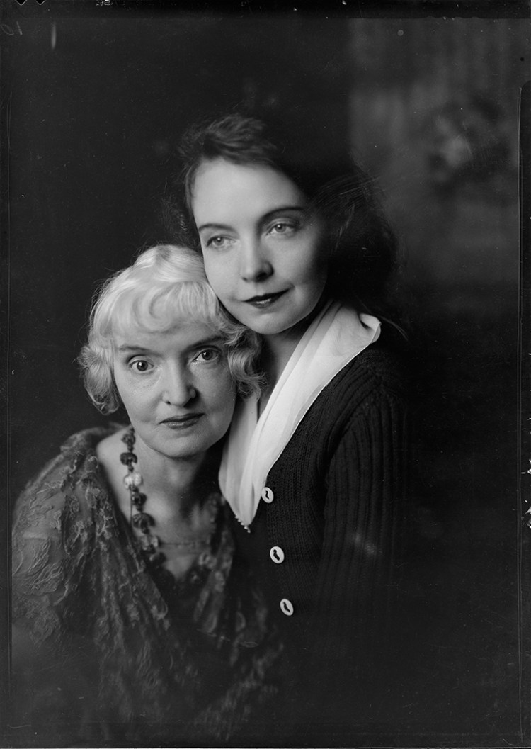 Portrait of Lillian Gish and Mother 1920 Nell Dorr 2