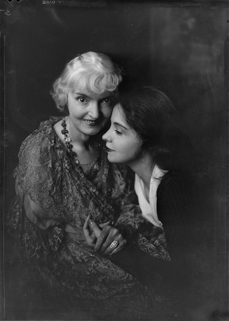 Portrait of Lillian Gish and Mother 1920 Nell Dorr c