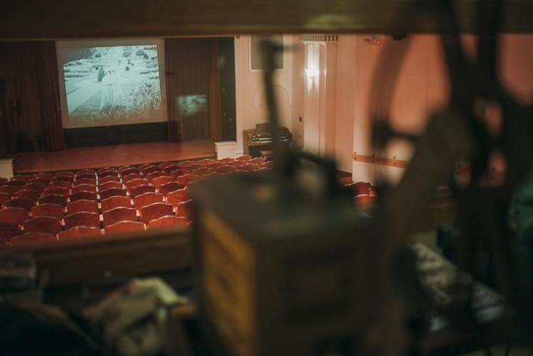 The Gish Film Theater Hanna Hall - View from the projection room