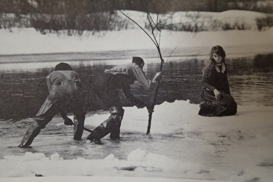 "Way Down East - filming the ""Ice Floe Scene"" (Lillian Gish)"