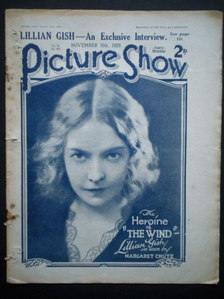 PICTURE-SHOW-1928-UK-mag-Lillian-Gish-cover