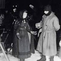 """Way Down East"" - Lillian Gish and D.W. Griffith on set (Vermont)"