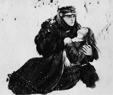 Richard Barthelmess and Lillian Gish - ice floe scenes (Way Down East)