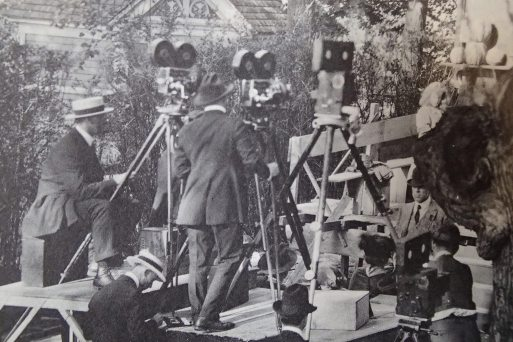 DW Griffith filming team - Mamaroneck NY - Way Down East