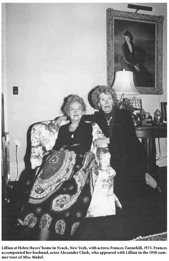 Lillian Gish and Anne Tennehill 1973 at Helen Hayes