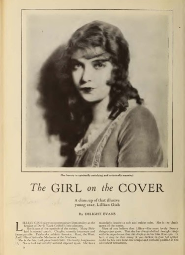 Photoplay (Dec 1921) Girl on the Cover 1