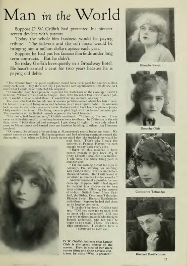 Photoplay (Dec 1926) D.W. Griffith might be the richest man 2