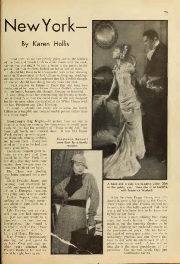 Picture Play Magazine (1933) They Say in New York2
