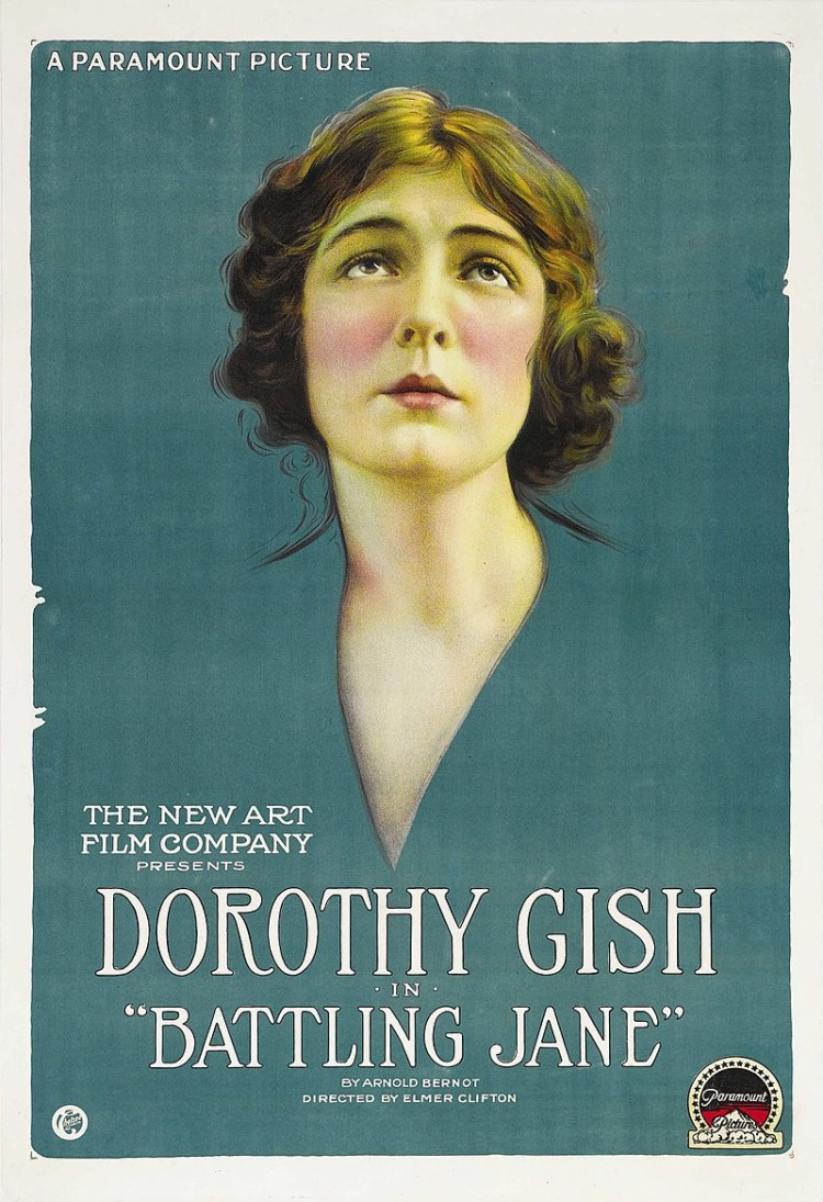 Dorothy Gish in Battling Jane 1918 Film Poster