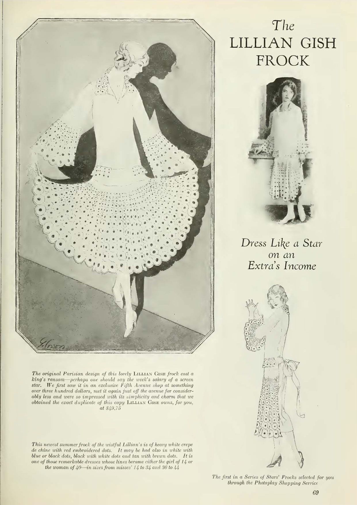 The Lillian Gish Frock – (Photoplay July 1925)