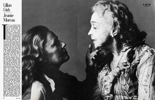 Lillian Gish and Jeanne Moreau - Vanity Fair October 1983