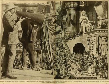 "D.W. Griffith and G.W. Bitzer filming ""Intolerance"""