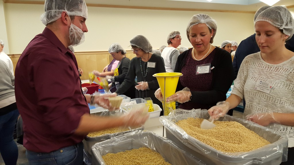Assembling Meals at Maine Hunger Dialogue 2015