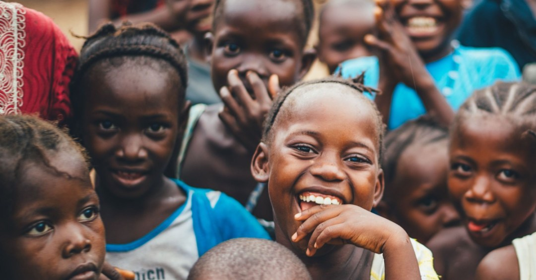 African smiling children