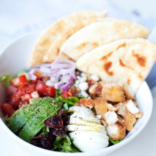Quick and Easy Crispy Chicken Cobb Salad