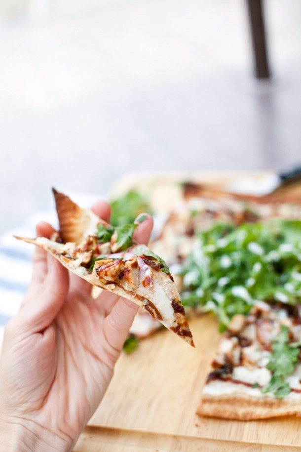 Macro-Friendly BBQ Chicken Lavash Wrap Pizza