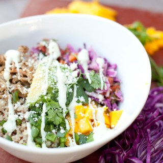 Quick and Healthy Crispy Carnitas Quinoa Bowl