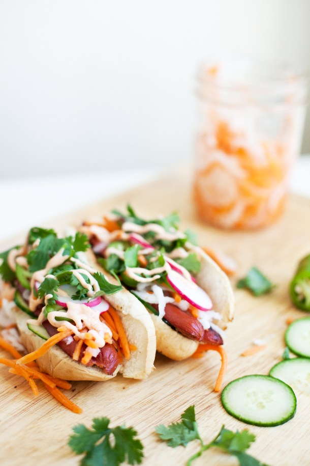 Low Fat Banh Mi Hot Dogs