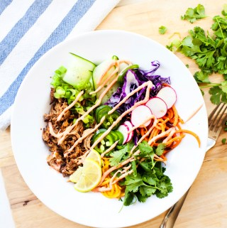 Quick lunch-time Banh Mi Veggie Bowl