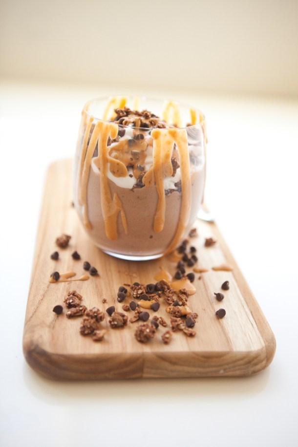 Chocolate Mint Protein Ice Cream Sundae