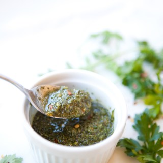Lightened Up Chimichurri www.lillieeatsandtells.com