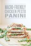 Chicken pesto panini with text