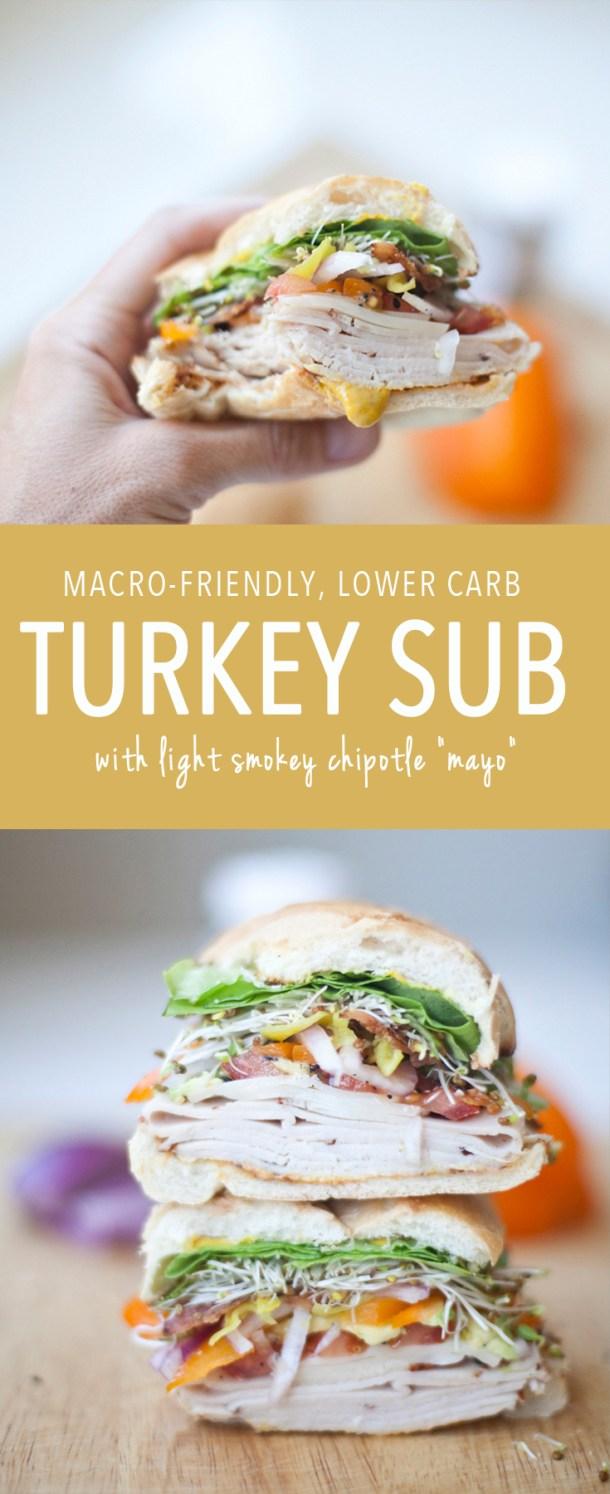 Every Day Macro-Friendly Giant Turkey Sub lillieeatsandtells.com