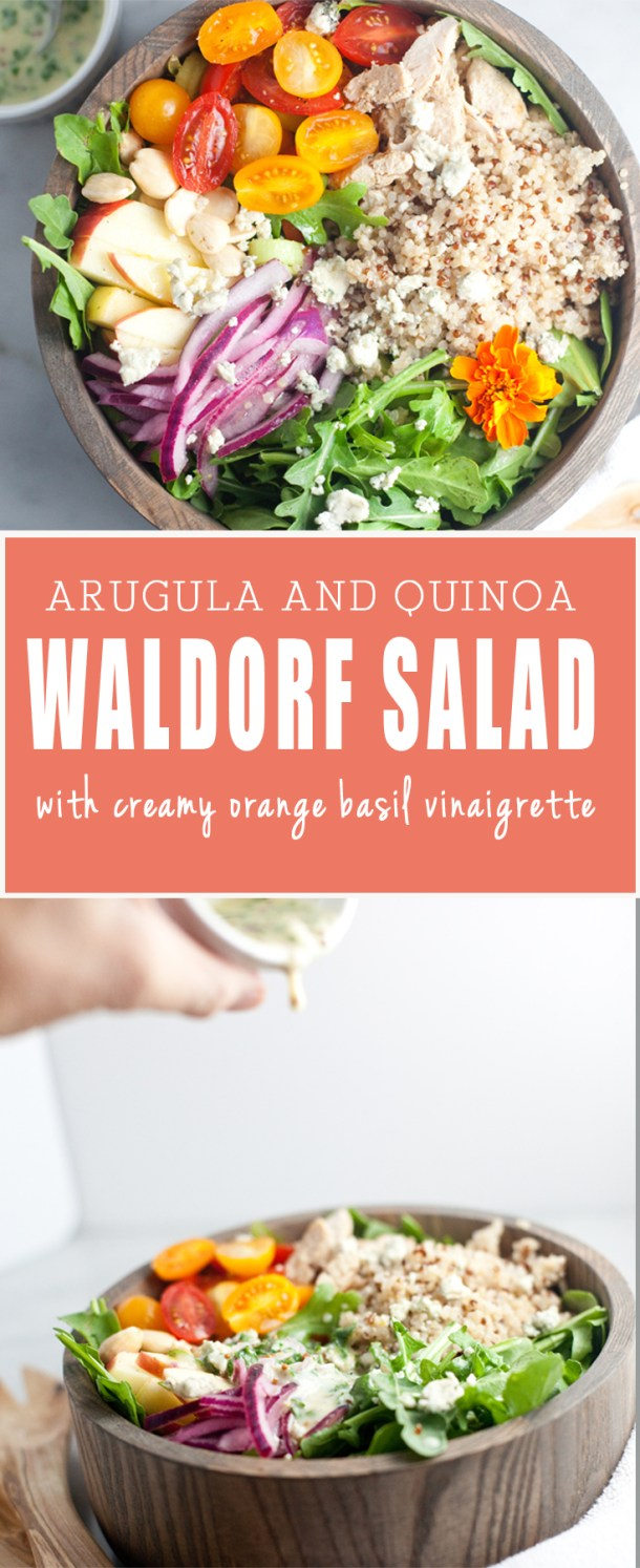 Arugula Quinoa Waldorf Salad www.lillieeatsandtells.com