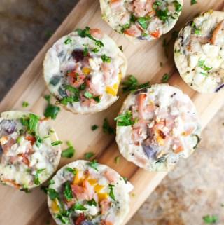 Egg White Veggie Mini Quiche www.lillieeatsandtells.com