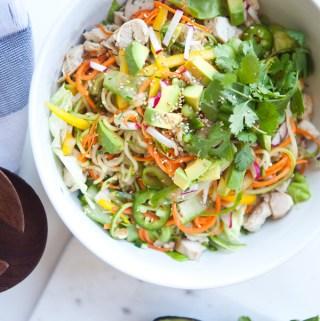 Thai Zoodle Salad www.lillieeatsandtells.com