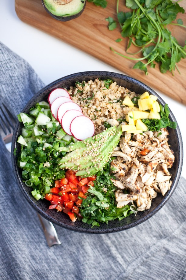 Cauliflower Rice Asian Chopped Salad www.lillieeatsandtells.com