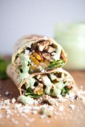 Lavash Fajita Burrito www.lillieeatsandtells.com