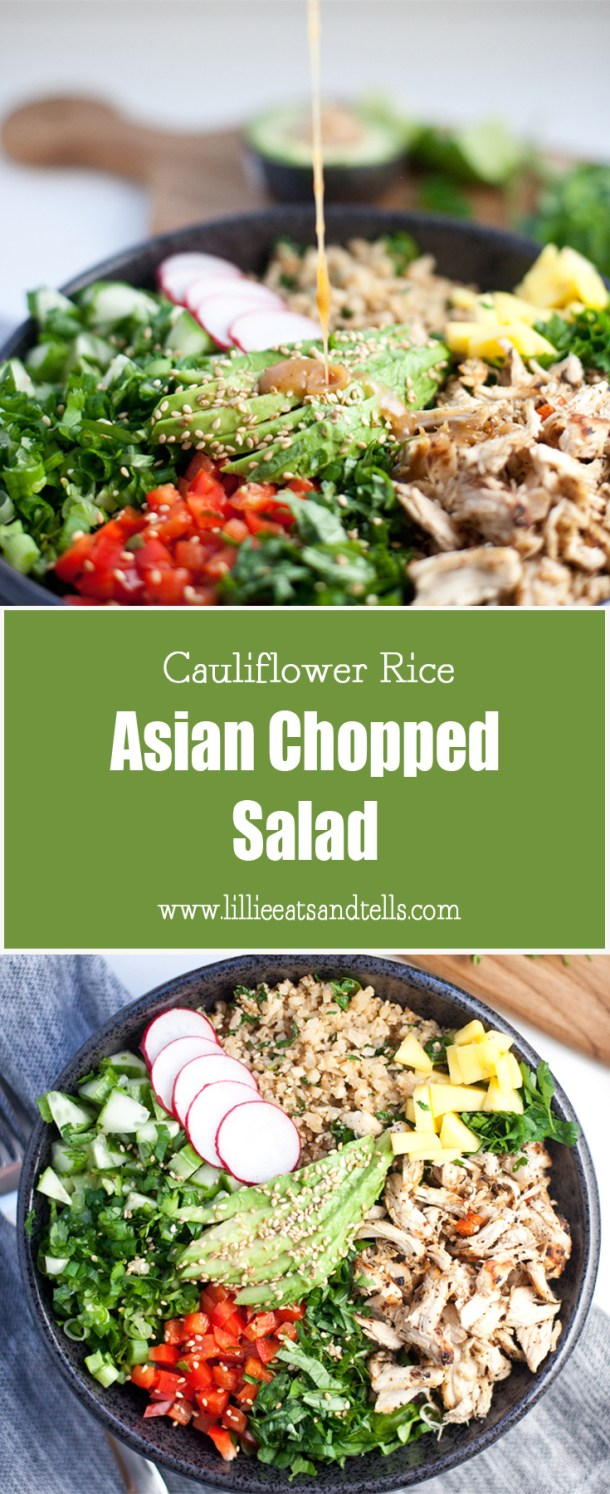 Cauliflower-Rice Asian Chopped Salad www.lillieeatsandtells.com
