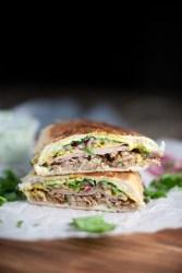 Skinny Cuban Sandwich www.lillieeatsandtells.com #macrofriendly #lillielovesmacros #skinnycubansandwich #panini