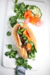 Lightened up Banh Mi Sandwich #macrofriendly #skinnyrecipes #weightwatchers #healthy #banhmi www.lillieeatsandtells.com #skinny #macrofriendly #healthy #banhmi #instantpot
