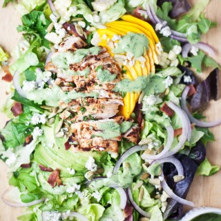Chipotle Grilled Chicken and Mango Cobb #macrofriendly #skinny #light #healthy www.lillieeatsandtells.com