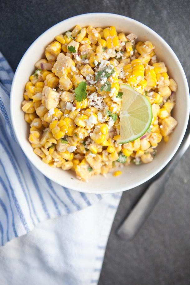 Mexican Street Corn Salsa #macrofriendly #skinny #light #healthy www.lillieeatsandtells.com