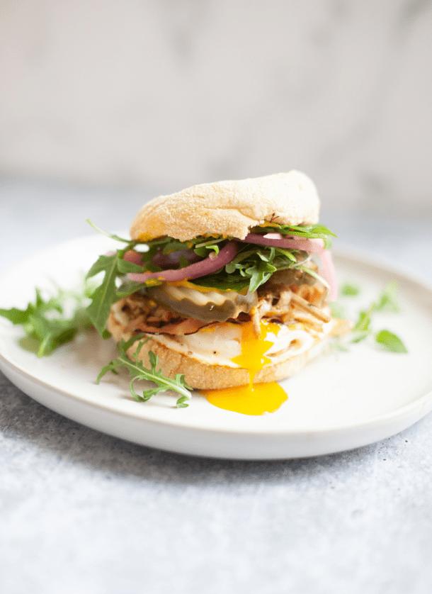 This breakfast sandwich will fit your macros. www.lillieeatsandtells.com
