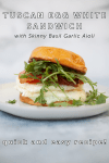 www.lillieeatsandtells.com recipe for Tuscan egg white breakfast sandwich with skinny basil garlic aioli