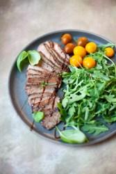 www.lillieeatsandtells.com recipe for balsamic grilled flank steak