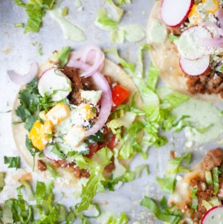 www.lillieeatsandtells.com recipe for sheet pan tacos with creamy cilantro ranch