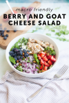 easy and macro friendly berry and goat cheese salad by www.lillieeatsandtells.com