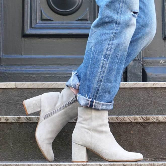 Volant Bluse & Ankle Boots / Lilli & Luke