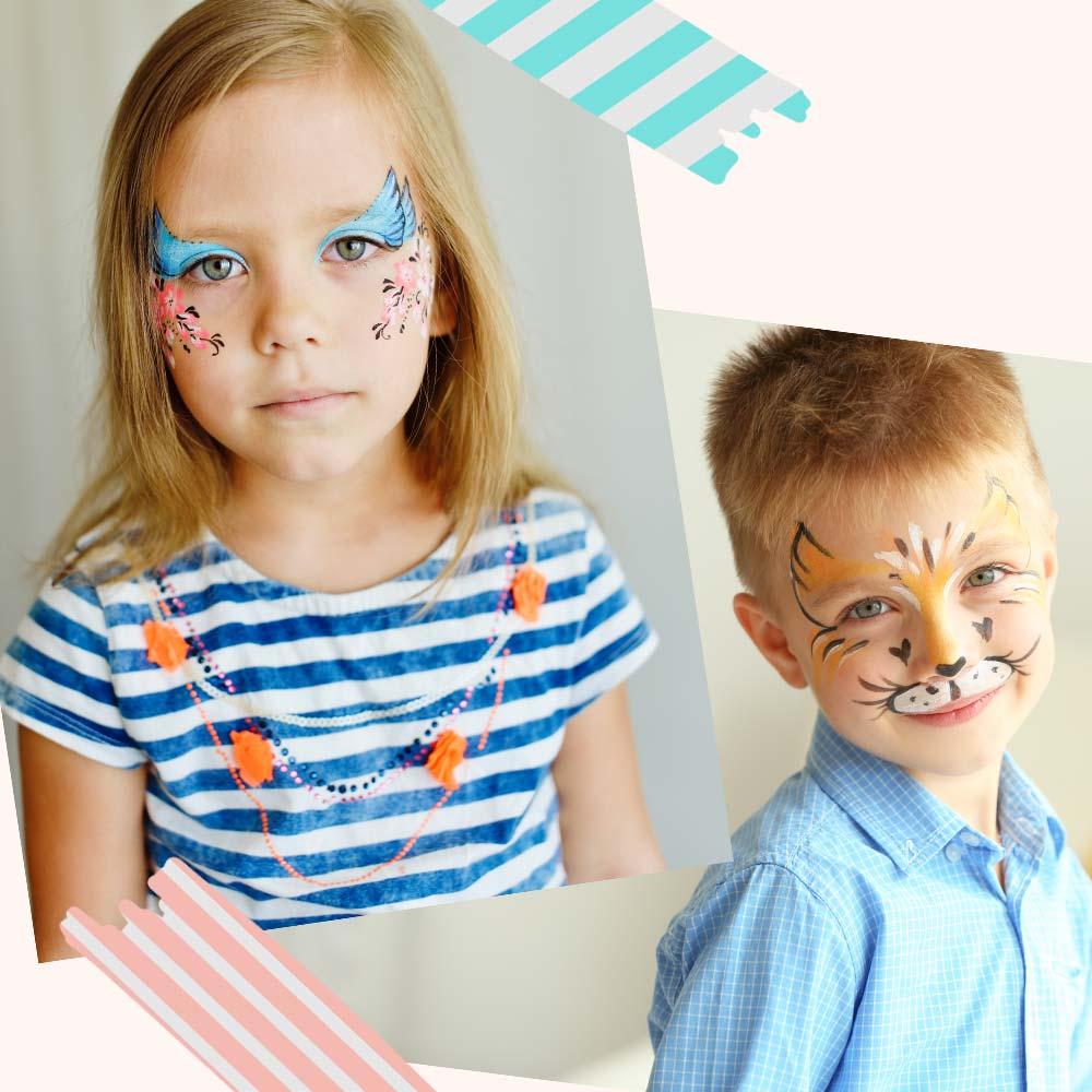 Ideen Fur Bunt Geschminkte Kindergesichter