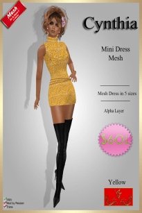 [60] Cynthia - Mesh Dress - YellowPIC