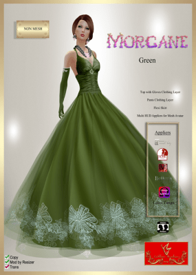 [LD] Morgane (Updated) - Green xs