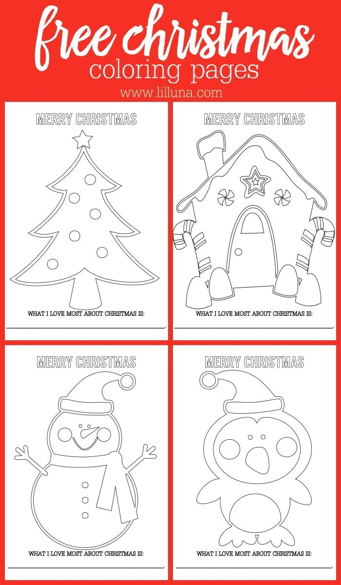 free christmas coloring sheets | lil' luna